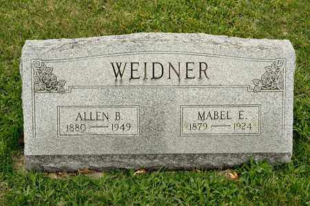 WEIDNER, ALLEN B - Richland County, Ohio | ALLEN B WEIDNER - Ohio Gravestone Photos