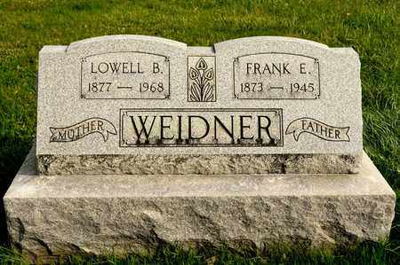 WEIDNER, LOWELL B - Richland County, Ohio | LOWELL B WEIDNER - Ohio Gravestone Photos