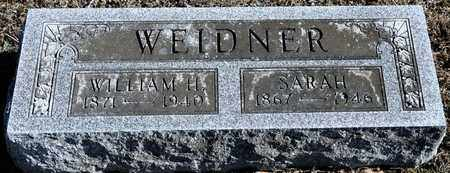 WEIDNER, WILLIAM H - Richland County, Ohio | WILLIAM H WEIDNER - Ohio Gravestone Photos
