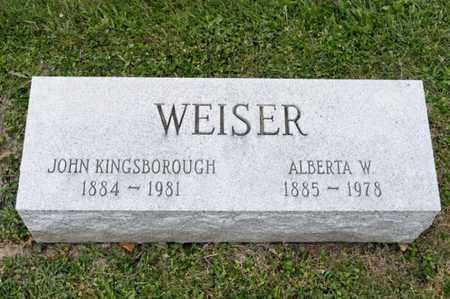 WEISER, ALBERTA W - Richland County, Ohio | ALBERTA W WEISER - Ohio Gravestone Photos