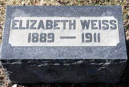 WEISS, ELIZABETH - Richland County, Ohio | ELIZABETH WEISS - Ohio Gravestone Photos