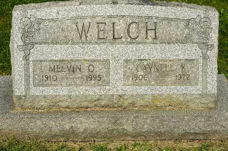 WELCH, MELVIN O - Richland County, Ohio | MELVIN O WELCH - Ohio Gravestone Photos