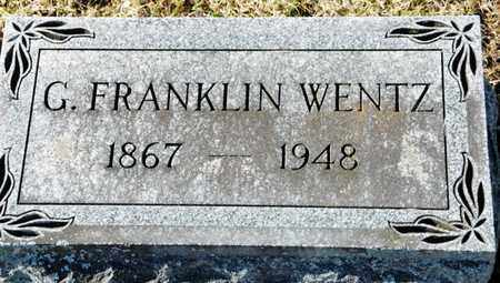WENTZ, G FRANKLIN - Richland County, Ohio | G FRANKLIN WENTZ - Ohio Gravestone Photos