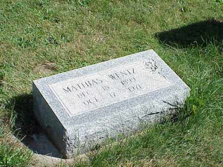 WENTZ, MATHIAS - Richland County, Ohio | MATHIAS WENTZ - Ohio Gravestone Photos