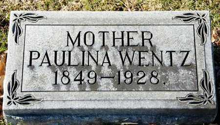 WENTZ, PAULINA - Richland County, Ohio | PAULINA WENTZ - Ohio Gravestone Photos