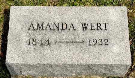 WERT, AMANDA - Richland County, Ohio | AMANDA WERT - Ohio Gravestone Photos