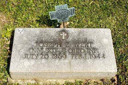 WERT, JOSEPH E - Richland County, Ohio | JOSEPH E WERT - Ohio Gravestone Photos