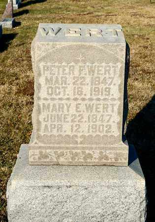 WERT, MARY E - Richland County, Ohio | MARY E WERT - Ohio Gravestone Photos