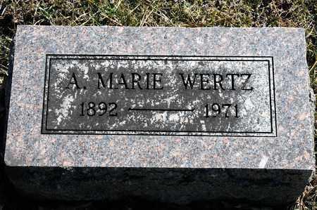 WERTZ, A MARIE - Richland County, Ohio | A MARIE WERTZ - Ohio Gravestone Photos