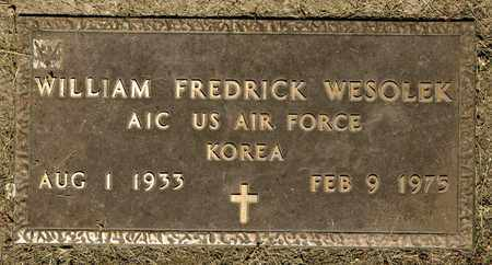 WESOLEK, WILLIAM FREDRICK - Richland County, Ohio | WILLIAM FREDRICK WESOLEK - Ohio Gravestone Photos