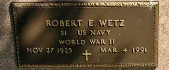 WETZ, ROBERT E - Richland County, Ohio | ROBERT E WETZ - Ohio Gravestone Photos