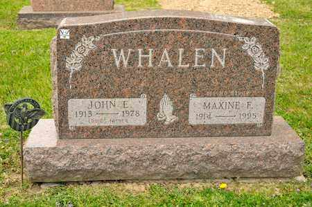 WHALEN, JOHN E - Richland County, Ohio | JOHN E WHALEN - Ohio Gravestone Photos