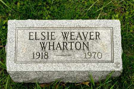 WEAVER WHARTON, ELSIE - Richland County, Ohio | ELSIE WEAVER WHARTON - Ohio Gravestone Photos