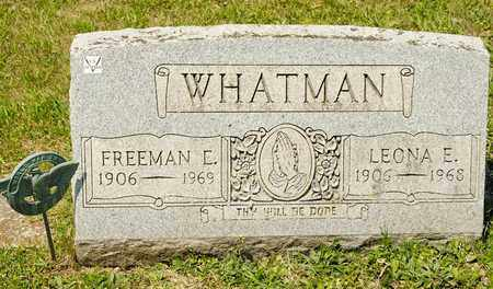 WHATMAN, FREEMAN E - Richland County, Ohio | FREEMAN E WHATMAN - Ohio Gravestone Photos