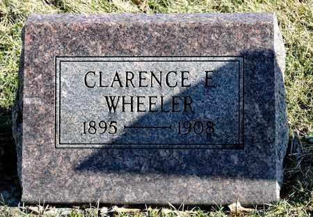 WHEELER, CLARENCE E - Richland County, Ohio | CLARENCE E WHEELER - Ohio Gravestone Photos