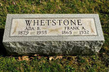 WHETSTONE, FRANK A - Richland County, Ohio | FRANK A WHETSTONE - Ohio Gravestone Photos