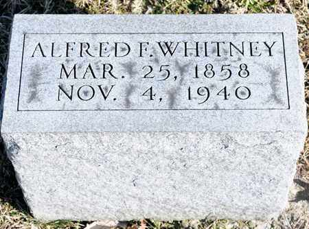 WHITNEY, ALFRED F - Richland County, Ohio | ALFRED F WHITNEY - Ohio Gravestone Photos