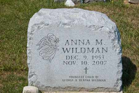 WILDMAN, ANNA M - Richland County, Ohio | ANNA M WILDMAN - Ohio Gravestone Photos