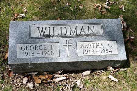 WILDMAN, BERTHA C - Richland County, Ohio | BERTHA C WILDMAN - Ohio Gravestone Photos