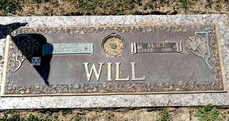 WILL, ALICE - Richland County, Ohio | ALICE WILL - Ohio Gravestone Photos