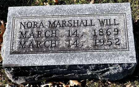 MARSHALL WILL, NORA - Richland County, Ohio | NORA MARSHALL WILL - Ohio Gravestone Photos