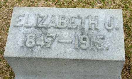 WILLIAMS, ELIZABETH J - Richland County, Ohio | ELIZABETH J WILLIAMS - Ohio Gravestone Photos