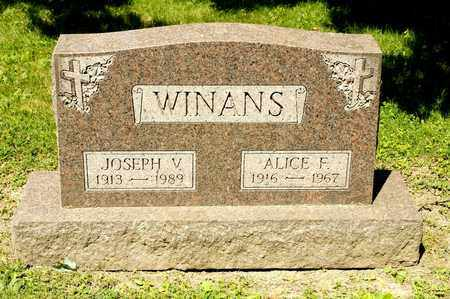 WINANS, ALICE F - Richland County, Ohio | ALICE F WINANS - Ohio Gravestone Photos