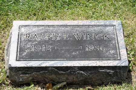 WINCK, RALPH E - Richland County, Ohio | RALPH E WINCK - Ohio Gravestone Photos