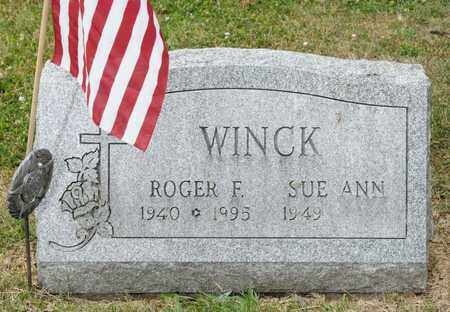 WINCK, ROGER F - Richland County, Ohio | ROGER F WINCK - Ohio Gravestone Photos