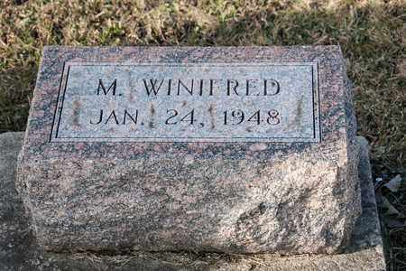 WINIFRED, M - Richland County, Ohio | M WINIFRED - Ohio Gravestone Photos