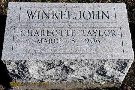 WINKELJOHN, CHARLOTTE - Richland County, Ohio | CHARLOTTE WINKELJOHN - Ohio Gravestone Photos