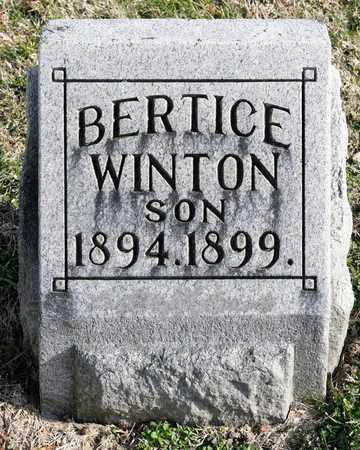WINTON, BERTICE - Richland County, Ohio | BERTICE WINTON - Ohio Gravestone Photos