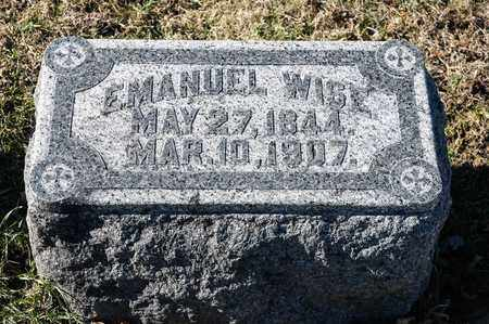 WISE, EMANUEL - Richland County, Ohio | EMANUEL WISE - Ohio Gravestone Photos