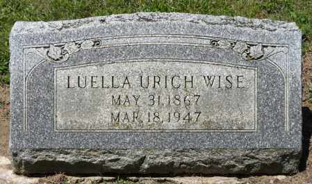 URICH WISE, LUELLA - Richland County, Ohio | LUELLA URICH WISE - Ohio Gravestone Photos