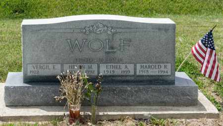WOLF, ETHEL A - Richland County, Ohio | ETHEL A WOLF - Ohio Gravestone Photos