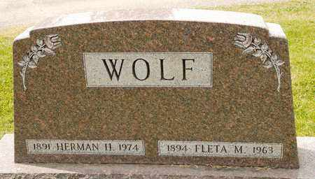 WOLF, FLETA M - Richland County, Ohio | FLETA M WOLF - Ohio Gravestone Photos