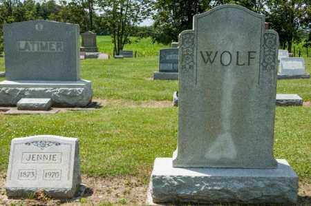 WOLF, JENNIE - Richland County, Ohio | JENNIE WOLF - Ohio Gravestone Photos