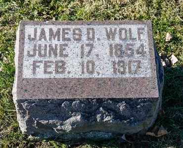 WOLF, JAMES D - Richland County, Ohio | JAMES D WOLF - Ohio Gravestone Photos