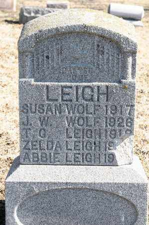 LEIGH, ABBIE - Richland County, Ohio | ABBIE LEIGH - Ohio Gravestone Photos