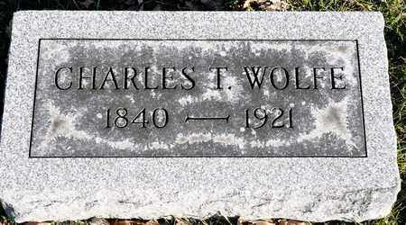 WOLFE, CHARLES T - Richland County, Ohio | CHARLES T WOLFE - Ohio Gravestone Photos