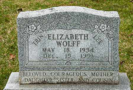 WOLFF, ELIZABETH - Richland County, Ohio | ELIZABETH WOLFF - Ohio Gravestone Photos