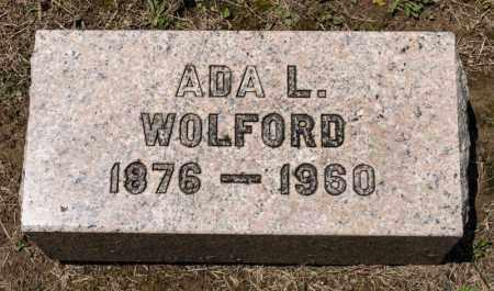 WOLFORD, ADA L - Richland County, Ohio | ADA L WOLFORD - Ohio Gravestone Photos
