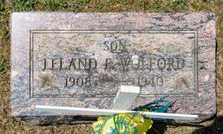 WOLFORD, LELAND E - Richland County, Ohio | LELAND E WOLFORD - Ohio Gravestone Photos