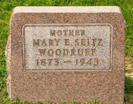 SEITZ WOODRUFF, MARY E - Richland County, Ohio | MARY E SEITZ WOODRUFF - Ohio Gravestone Photos