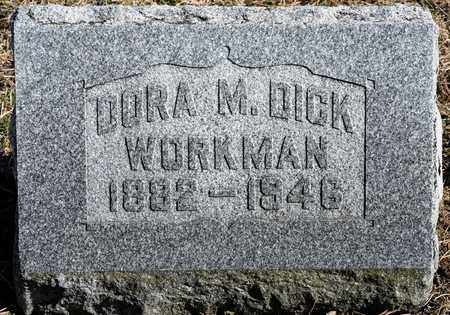 DICK WORKMAN, DORA M - Richland County, Ohio | DORA M DICK WORKMAN - Ohio Gravestone Photos