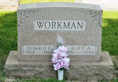 WORKMAN, ALICE A - Richland County, Ohio | ALICE A WORKMAN - Ohio Gravestone Photos