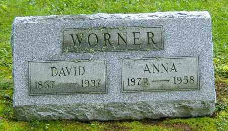 WORNER, DAVID W. - Richland County, Ohio | DAVID W. WORNER - Ohio Gravestone Photos
