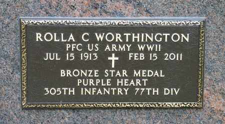 WORTHINGTON, ROLLA C - Richland County, Ohio | ROLLA C WORTHINGTON - Ohio Gravestone Photos