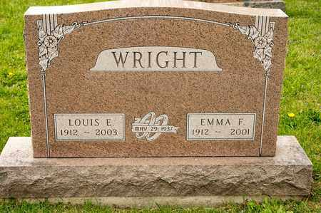 WRIGHT, LOUIS E - Richland County, Ohio | LOUIS E WRIGHT - Ohio Gravestone Photos