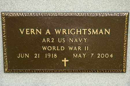 WRIGHTSMAN, VERN A - Richland County, Ohio | VERN A WRIGHTSMAN - Ohio Gravestone Photos